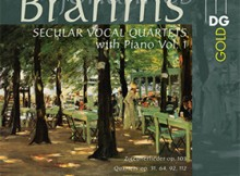 Brahms - cuartetos vocales profanos para piano